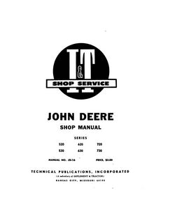 John Deere 520, 530, 620, 630, 720, and 730 Tractor - Service Manual
