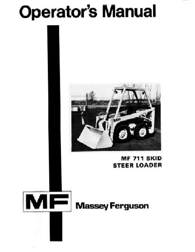Massey Ferguson 711 Skid-Steer Loader Manual