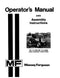 Massey Ferguson 14 and 16 Lawn Tractor Manual