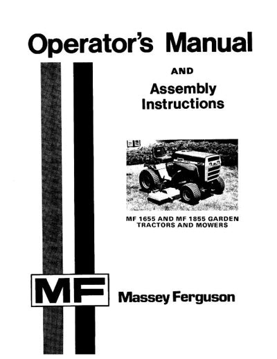 Massey Ferguson 1655 and 1855 Lawn Tractor Manual