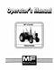 Massey Ferguson 270 and 290 Tractor Manual