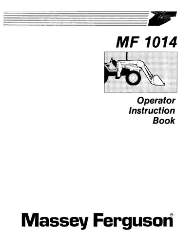 Massey Ferguson 1014 Loader Manual