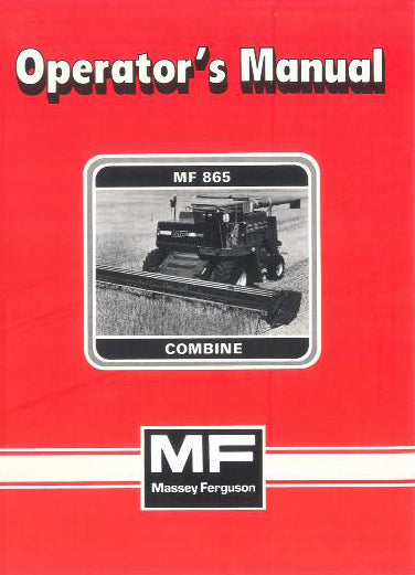 Massey Ferguson 865 Combine Manual
