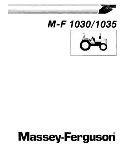 Massey Ferguson 1030 and 1035 Tractor Manual