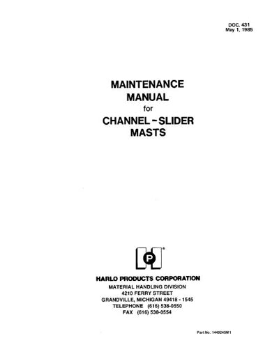 Massey Ferguson 6500H and 6800H Forklift - Service Manual