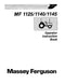 Massey Ferguson 1125, 1140, and 1145 Tractors Manual