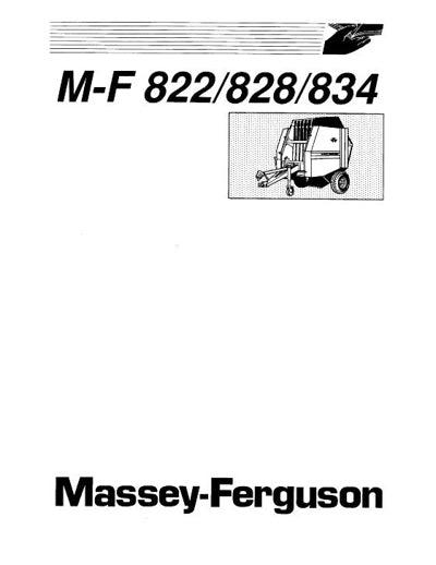 Massey Ferguson 822, 828, and 834 Round Baler Manual