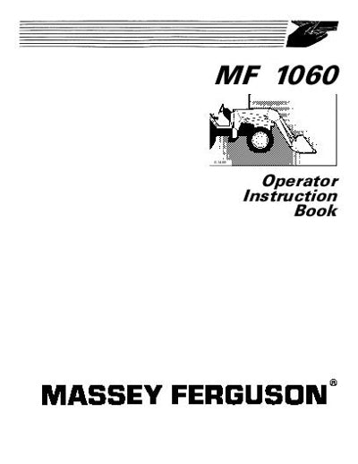 Massey Ferguson 1060 Loader Manual