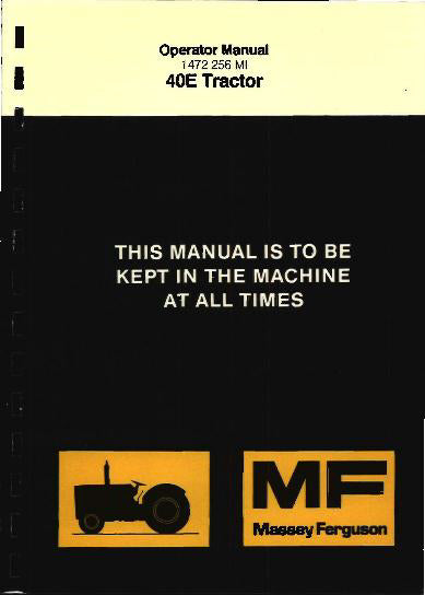 Massey Ferguson 40E Industrial Tractor Manual