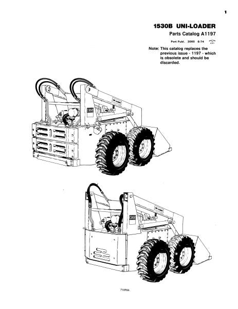 Case 1530B Skid-Steer - Parts Catalog