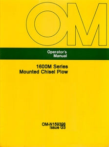 John Deere 1600M Series Mounted Chisel Plow Manual