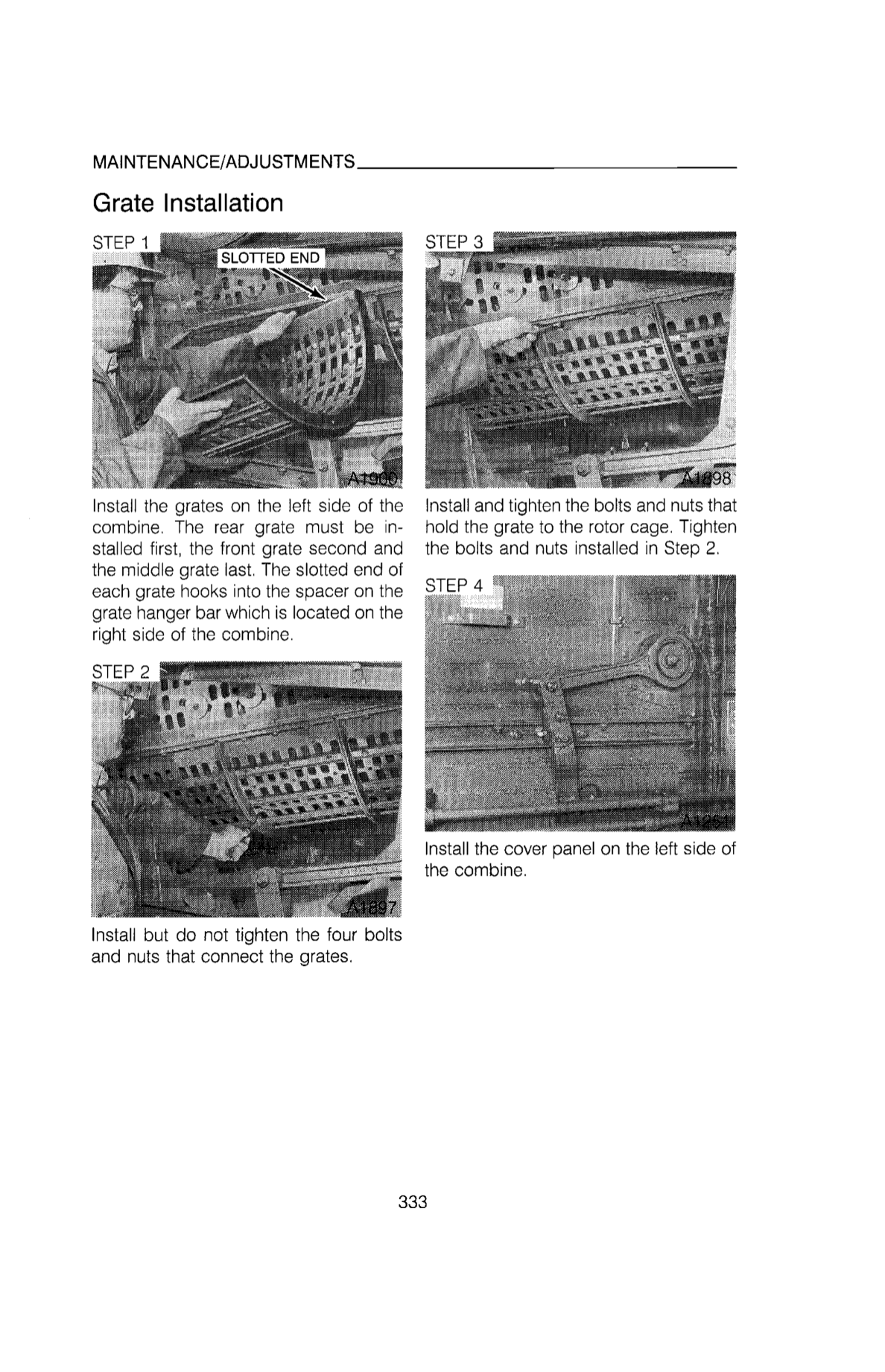 Additional pictures of the Case IH 1660 Combine Manual.