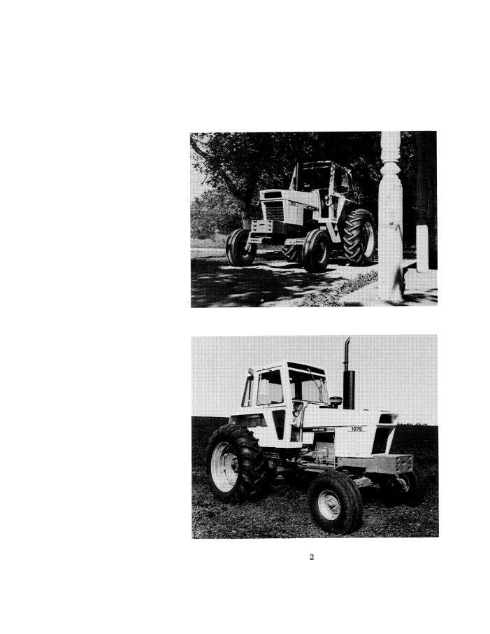 Case 1070 Tractor Manual