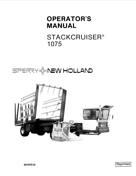 New Holland 1075 Stackcruiser Manual