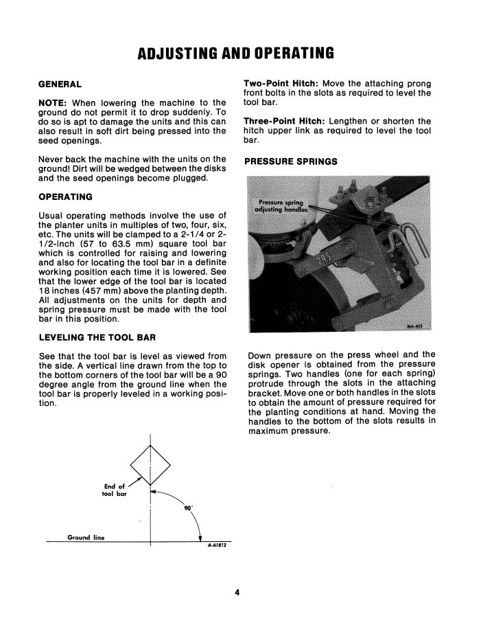 International 295 Planter Unit Manual