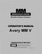 Minneapolis-Moline Avery MM V Tractor Manual