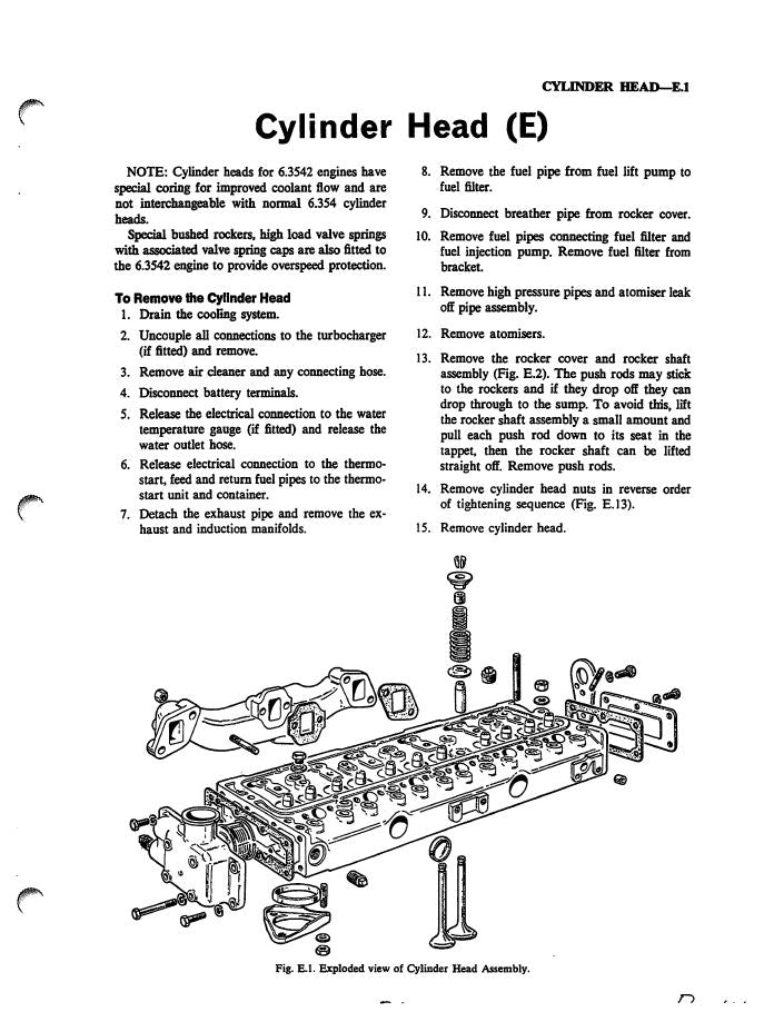 Massey Ferguson 1105, 1135, and 1155 Tractors - Service Manual
