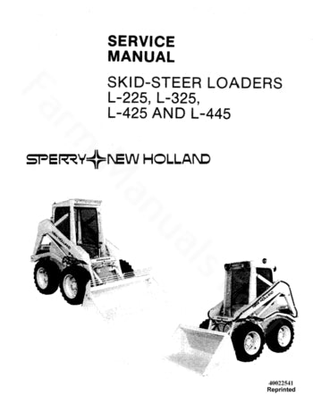 Disabled - New Holland L-225, L-325, L-425 and L-445 Skid Steer Loader - Service Manual