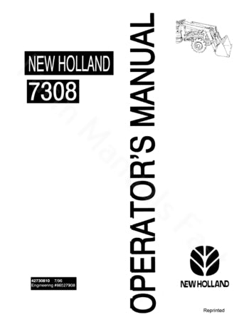 ford 7308 loader manual farm manuals fast rh farmmanualsfast com New Holland 7308 Grille Remove On New Holland 7308 Bucket