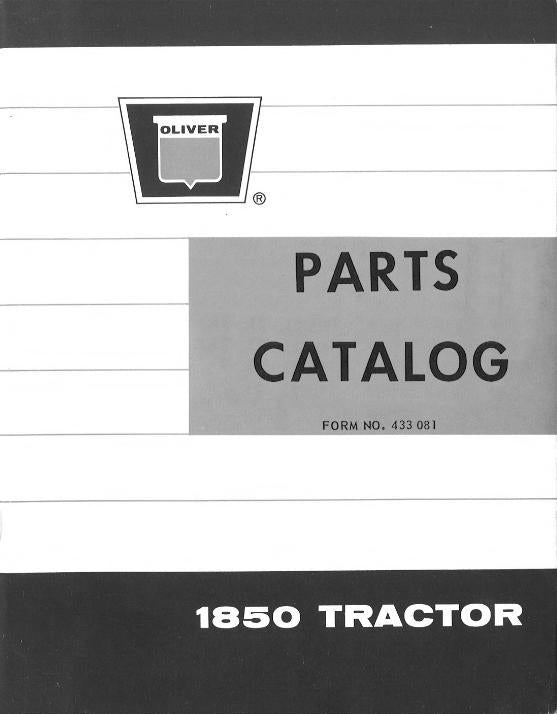 Oliver 1850 Tractor - Parts Manual
