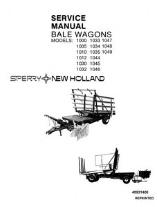 New Holland 1000 - 1049 Bale Wagons - Service Manual