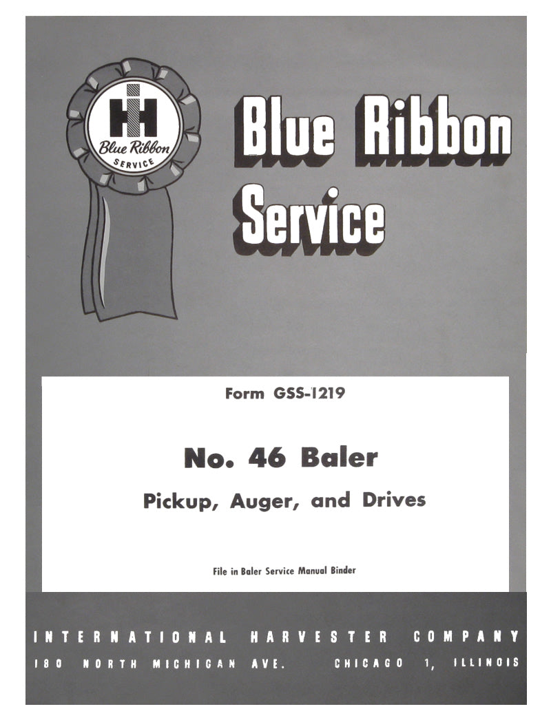 International 46 Baler - Service Manual Bundle