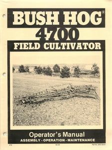 Bush Hog 4700 Field Cultivator Manual