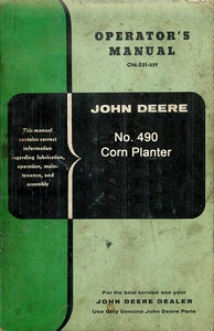 John Deere 490 Corn Planter Manual