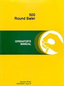 Additional pictures of the John Deere 500 Round Baler Manual.