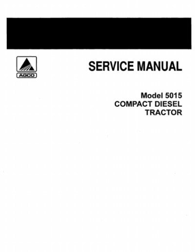Allis-Chalmers 5015 Tractors - COMPLETE SERVICE MANUAL