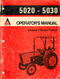 Allis-Chalmers 5020 and 5030 Tractor Manual
