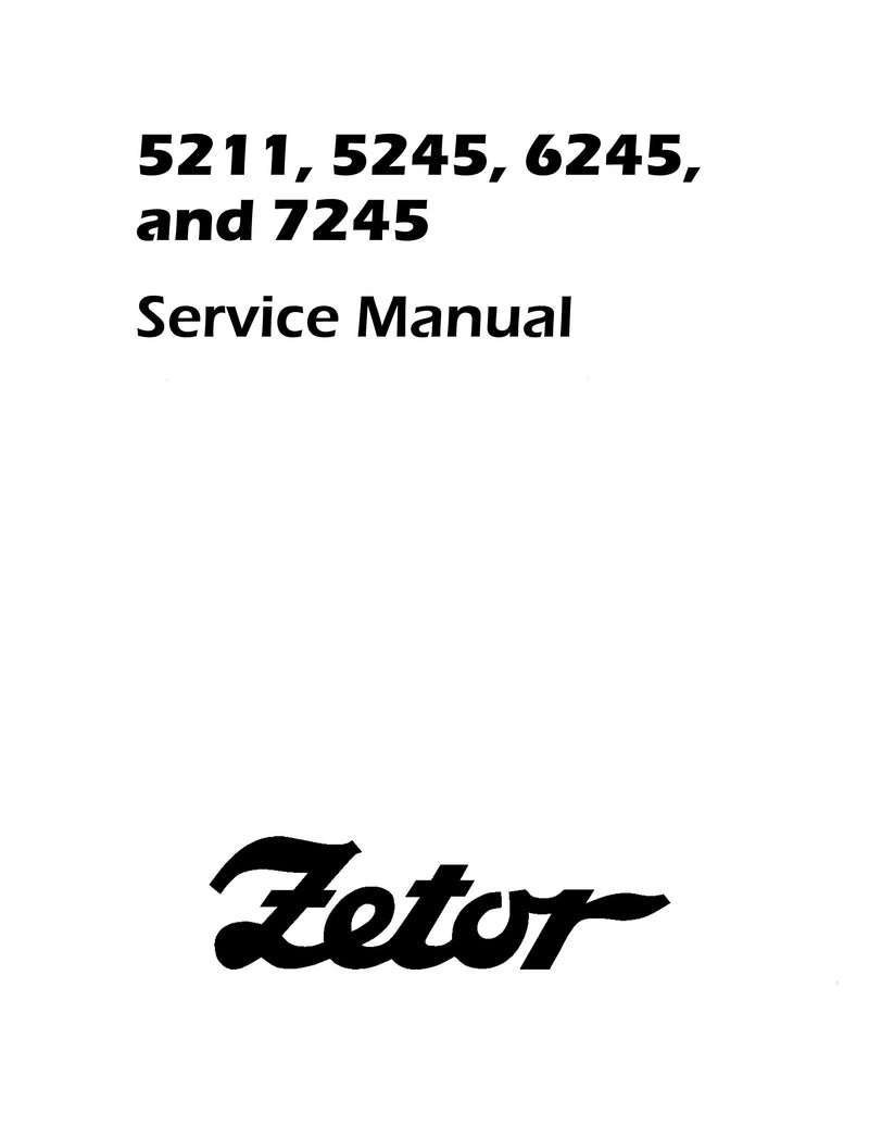 Zetor 5211, 5245, 6245, and 7245 Tractor - Service Manual