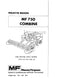 Massey Ferguson 750 Combine - Parts Manual