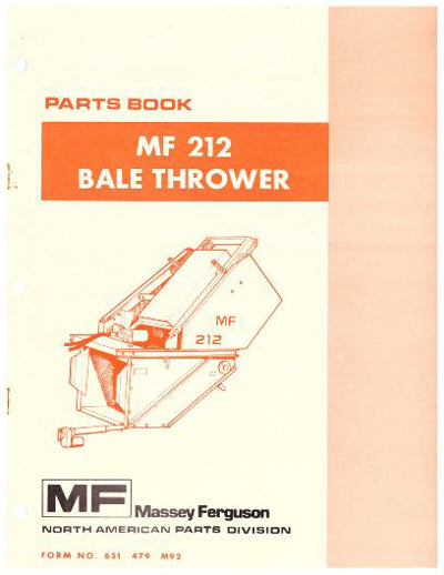 Massey Ferguson 212 Bale Thrower - Parts Catalog