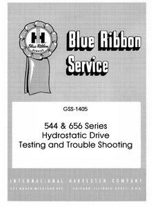 "Case IH 544 and 656 Series Tractors Hydrostatic Drive ""Testing and Trouble Shooting"" - Service Manual"