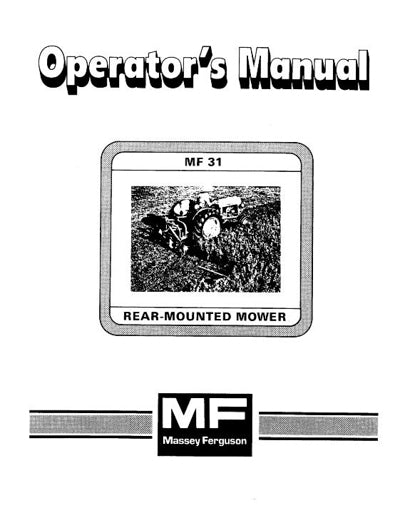 Massey Ferguson 31 Mower Manual