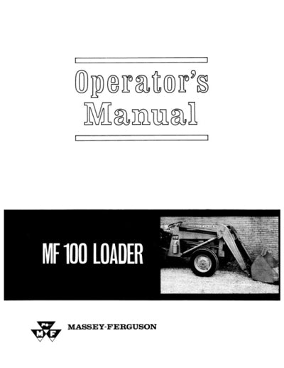Massey Ferguson 100 Industrial Loader Manual