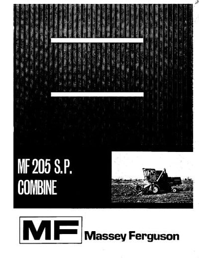 Massey Ferguson 205 Combine Manual