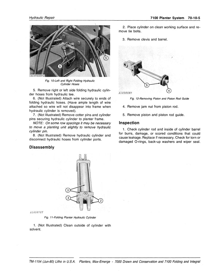 John Deere 7000 and 7100 Planter - Technical Manual