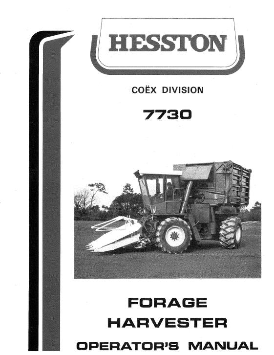 Hesston 7730 Forage Harvester Manual
