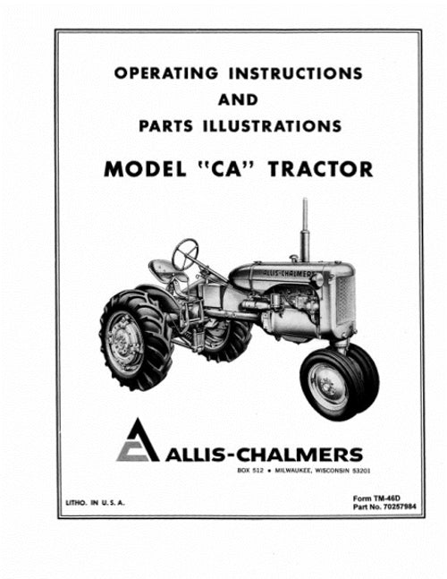 Allis-Chalmers CA Tractor Manual