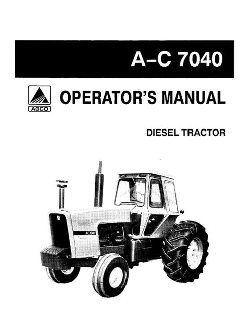 Allis-Chalmers 7040 Tractor Manual