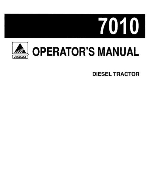 Allis-Chalmers 7010 Tractor Manual