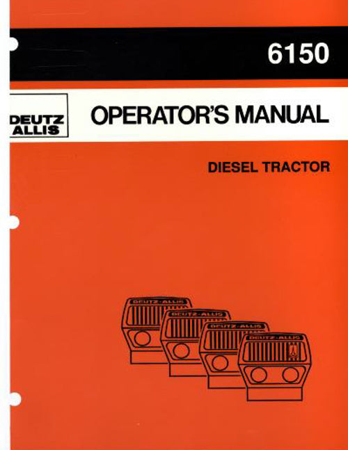 Deutz Allis 6150 Tractor Manual