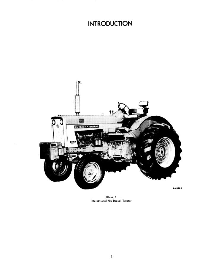 International 706 Tractor Manual