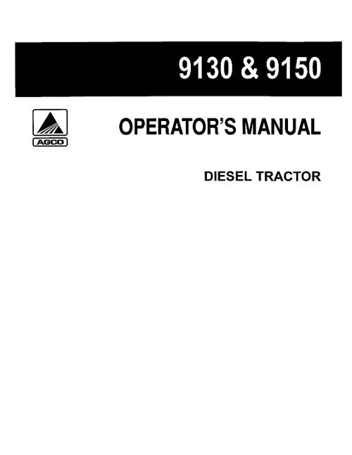 Deutz Allis 9130 and 9150 Tractor Manual