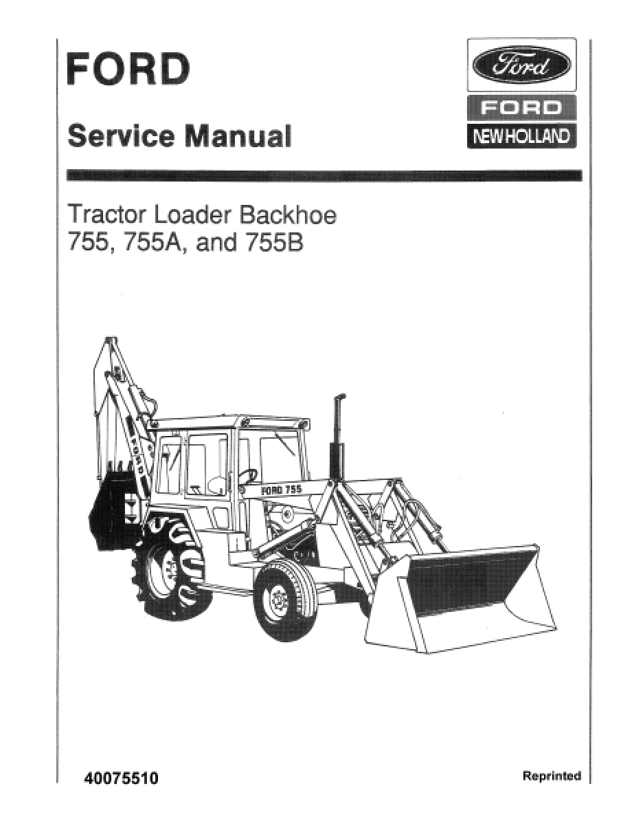 Business & Industrial Ford 755 755A 755B Tractor Loader Backhoe ...