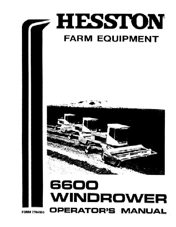 Hesston 6600 Windrower Manual