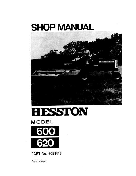 Hesston 600 and 620 Windrower - Service Manual