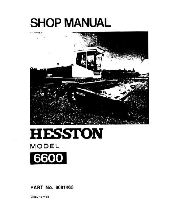 Hesston 6600 Windrower - Service Manual